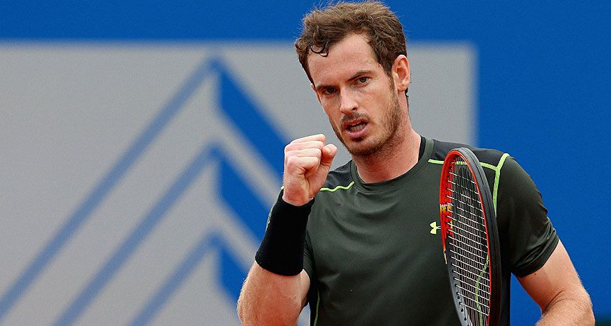 Andy Murray celebra un punto