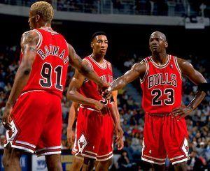 Michael Jordan durante un encuentro de los Chicago Bulls