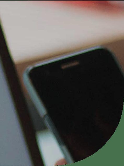 Detalle de un teléfono móvil