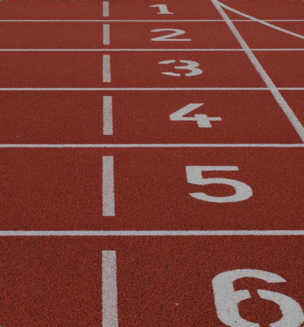Línea de salida de una pista de atletismo